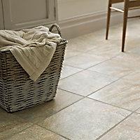 Illusion Grey Matt Patterned Stone effect Ceramic Floor tile, Pack of 10, (L)360mm (W)275mm