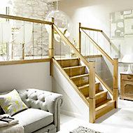 Immix Modern Pre-finished Natural Oak Handrail, (L)2.4m (W)60mm