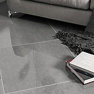 Imperiali Anthracite Porcelain Floor tile, Pack of 3, (L)600mm (W)600mm