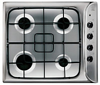 Indesit Silver & black Oven & hob pack Set