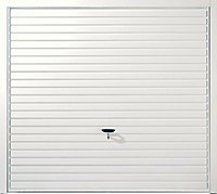 Indiana Framed White Retractable Garage door, (H)1981mm (W)2134mm