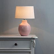 Inlight Ananke Embossed ceramic Pink LED Table light