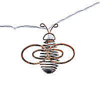 Inlight Bee shape Solar-powered Warm white 10 LED Outdoor String lights