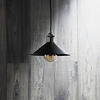 Inlight Black Nickel effect Steel Pendant set