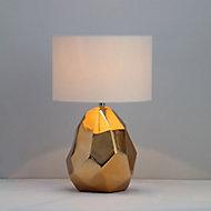 Inlight Chaldene Polished Gold effect Table light