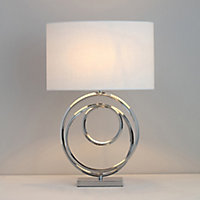 Inlight Dia Spiral Polished Chrome effect Table light