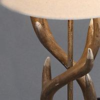 Inlight Hela Antler Matt Wooden effect Incandescent Table lamp