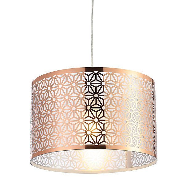 Inlight Hyperion Copper Effect Laser, Copper Mesh Lamp Shade