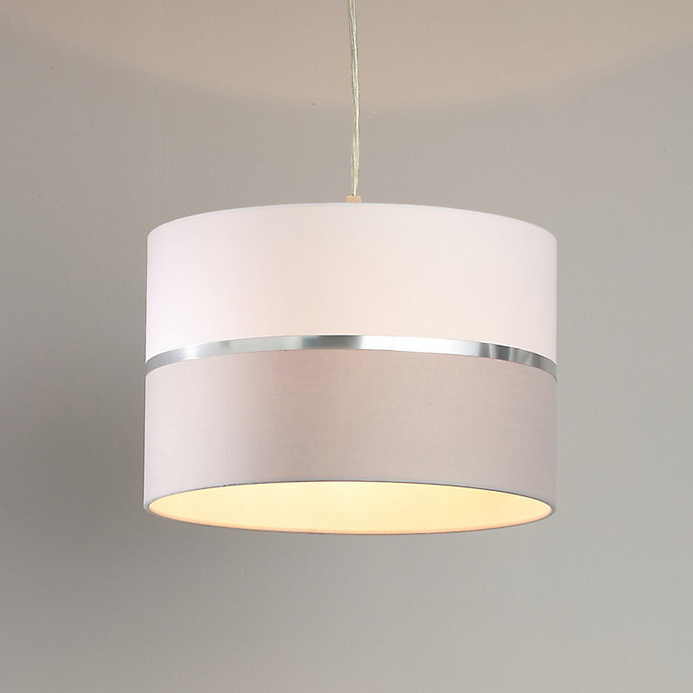 Inlight Isonoe Grey White Drum Light Shade D 300mm Diy At B Q