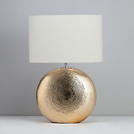 Inlight Locaste Textured Polished Gold effect Table light