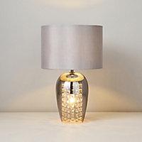 Inlight Nexus Grey & smoke LED Round Table lamp