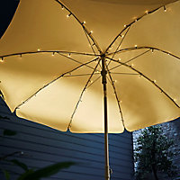 Inlight Parasol Solar-powered Warm white 72 LED Outdoor String lights