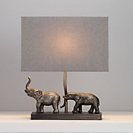 Inlight Pasithee Elephant Pewter effect Table light