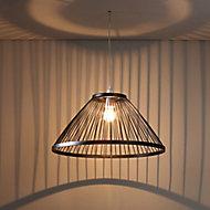 Inlight Phobos Black Bamboo Light shade (D)500mm