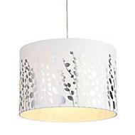 Inlight Tarvos White Silver effect Foil Light shade (D)300mm