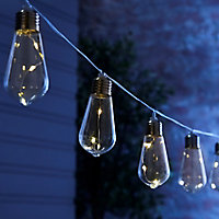 Inlight Vintage Solar-powered Warm white 10 LED Outdoor String lights
