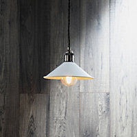 Inlight White Steel Pendant set