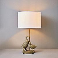 Inlight Yeta Duck Matt Neutral Round Table lamp