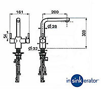 InSinkErator 3N1 Chrome effect Filtered steaming, hot & cold water tap