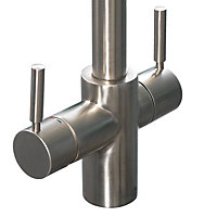 InSinkErator 3N1 Stainless steel effect Filtered steaming, hot & cold water tap