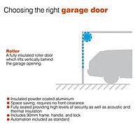 Insuglide Roller Garage door, (H)1981mm (W)2134mm