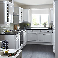 IT Kitchens Chilton Gloss White Style Standard Cabinet door (W)600mm