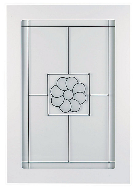 It Kitchens Chilton White Country Style Glazed Cabinet Door W 500mm Diy At B Q