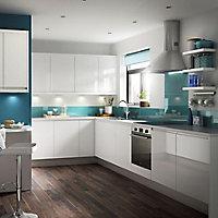 IT Kitchens Marletti Gloss White Cabinet door (W)600mm