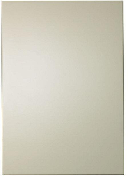 It Kitchens Santini Gloss Cream Slab Standard Cabinet Door W 500mm Diy At B Q