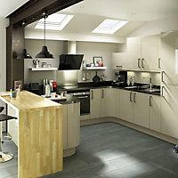 IT Kitchens Santini Gloss Grey Slab Cabinet door (W)600mm, Set of 2