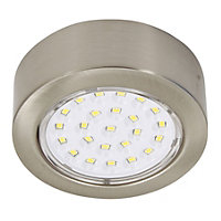 IT Kitchens Stainless steel effect Mains-powered LED Cabinet light, Pack of 3
