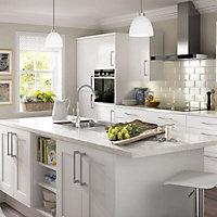 IT Kitchens White Classic Style Gloss White Pelmet, (L)2400mm