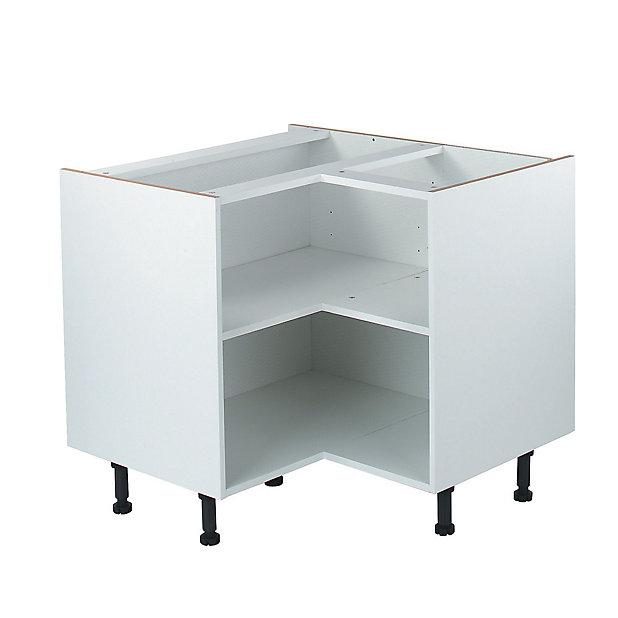 It Kitchens White Corner Base Cabinet W 925mm Diy At B Q
