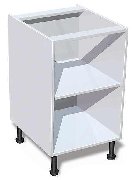 It Kitchens White Standard Base Cabinet W 500mm Diy At B Q