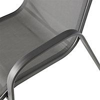 Janeiro Matt Steel grey Armchair (H)1030mm (W)560mm