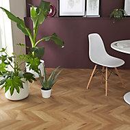 Jazy Natural Parquet effect Luxury vinyl click Flooring Sample