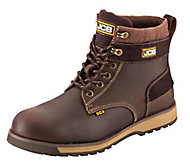 JCB 5CX Brown Safety boots, Size 12