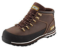 JCB Brown 3CX Hiker Non-safety boots, Size 8