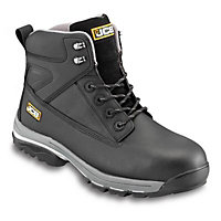 JCB Fast Track Black Safety boots, Size 8