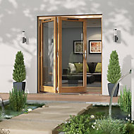 Jeld-Wen Canberra Clear Glazed Golden Oak LH External Folding Patio Door set, (H)2094mm (W)1794mm