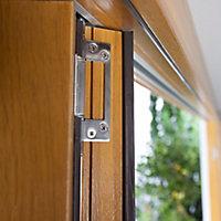 Jeld-Wen Canberra Clear Glazed Golden Oak LH External Folding Patio Door set, (H)2094mm (W)1794mm