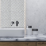 Jewel White Diamante effect Glass Mosaic tile, (L)300mm (W)300mm