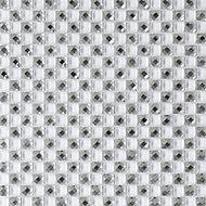 Jewel White Pattern Glass Mosaic tile, (L)300mm (W)300mm