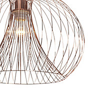 Jonas Pendant Copper effect Ceiling light