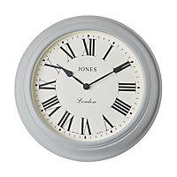Jones Cocktail Contemporary Grey Quartz Clock