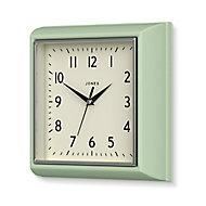 Jones Contemporary Neo Mint Quartz Clock