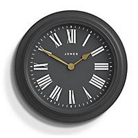 Jones Opera house Contemporary Grey Quartz Clock