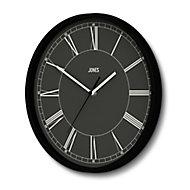 Jones Spartacus Contemporary Black Quartz Clock