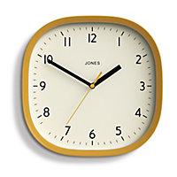 Jones Sprite Contemporary Ochre Quartz Clock