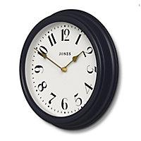Jones Venetian Contemporary Petrol Blue Quartz Clock